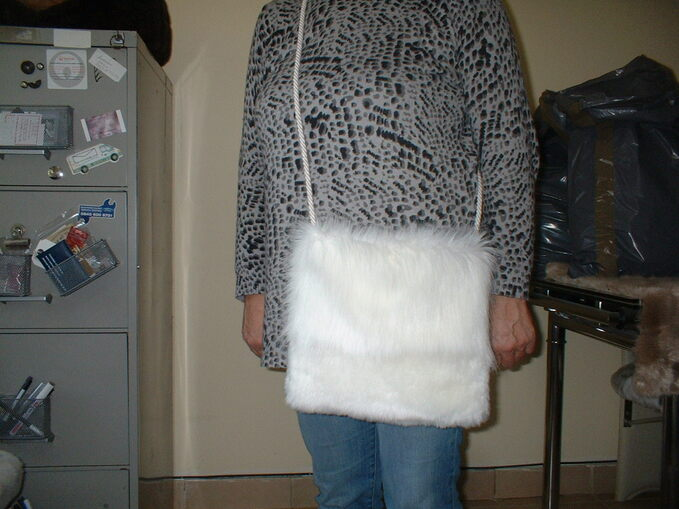 Polar Bear and Marilyn Faux Fur Shoulder Bag