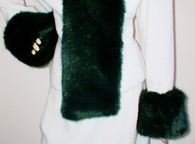 Hunter Green Faux Fur Cuffs
