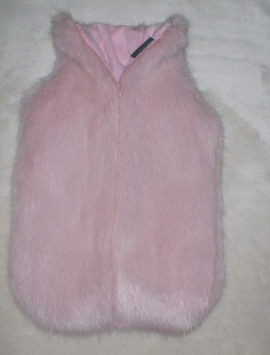 Raspberry Cream Mink Faux Fur Hot Water Bottle Cover