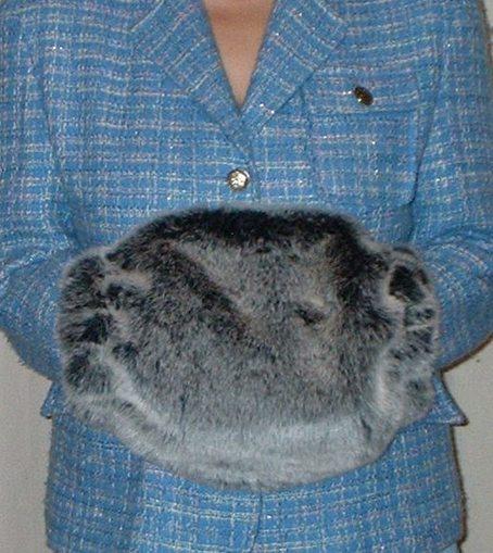 Arctic Wolf Faux Fur Muff