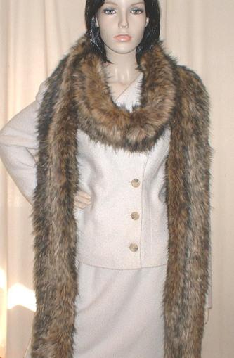 Simba Faux Fur Super Long Scarf