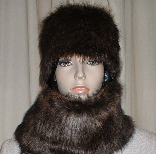 Brown Bear Faux Fur Hat