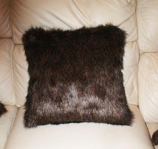 Brown Bear Faux Fur Cushions