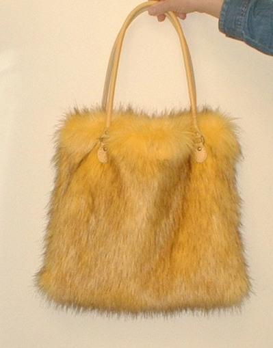 Sunflower Faux Fur Bag