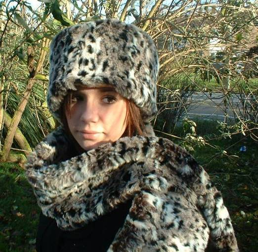 Wild Cat Faux Fur Traditional Scarf