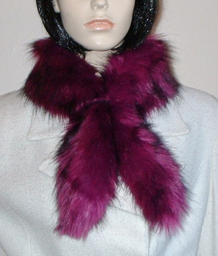 Magenta Faux Fur Slim Collar/Headband