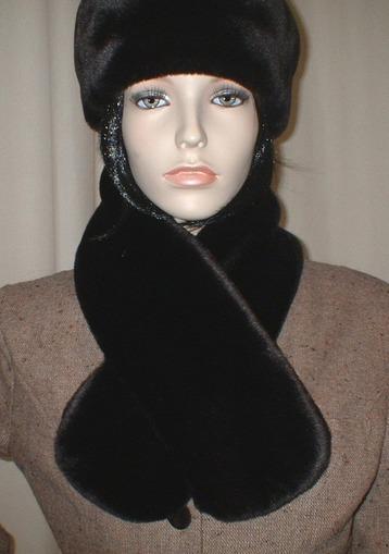 Chocolate Moleskin Faux Fur Headband