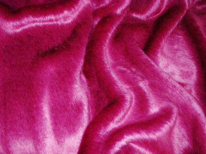 Hot Pink Faux Fur Cropped Jacket