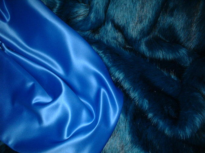 Cornflower Blue Duchess Satin