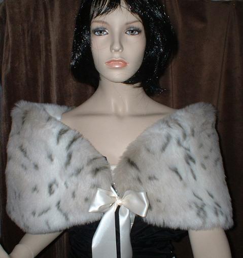 Snow Lynx Faux Fur Wrap