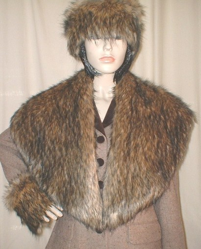 Simba Faux Fur Shawl Collar