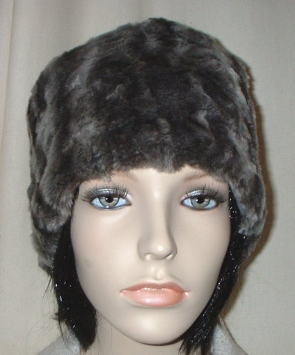 Vintage Silver Astra Faux Fur Hat