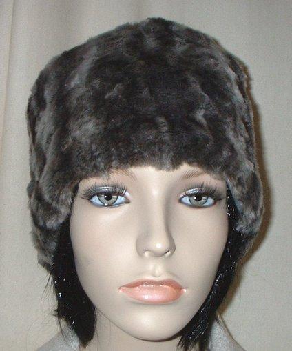 Vintage Silver Astra Faux Fur Hat