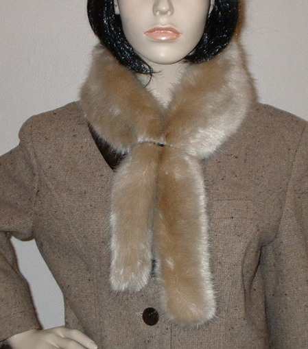 Honey Blonde Faux Fur Slim Collar/Headband