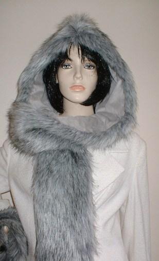 Silver Musquash Faux Fur Hoodie
