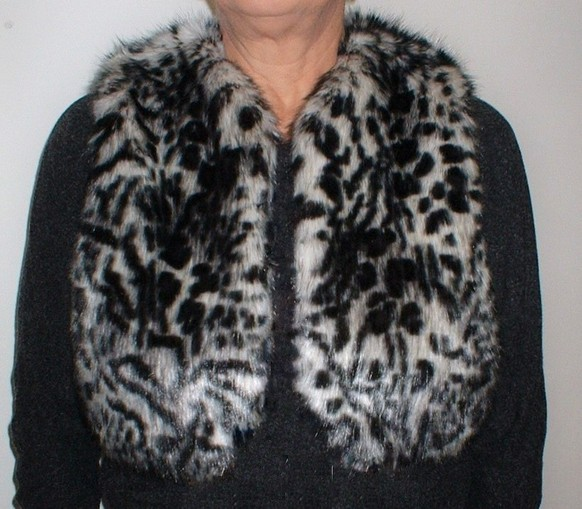 Panther Faux Fur Bolero