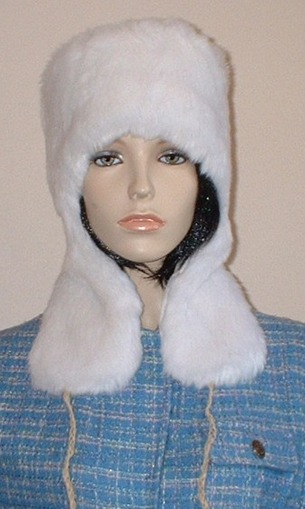 Snow White Faux Fur Trapper Hat