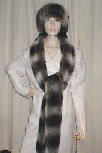 Chinchilla Faux Fur Super Long Scarf