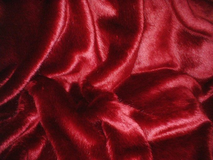 Ruby Red Faux Fur by the meter