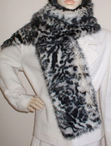 Panther Faux Fur Scarf