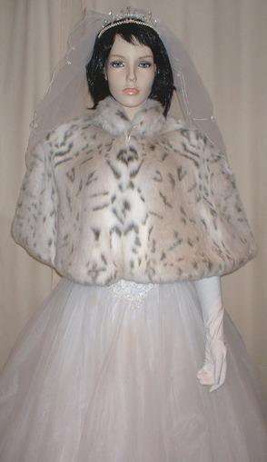 Snow Lynx Faux Fur Cape