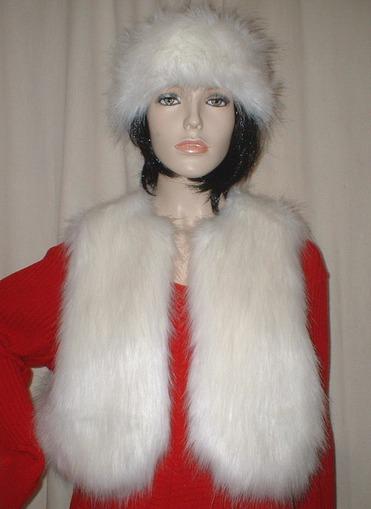 Polar Bear Faux Fur Bolero Waistcoat