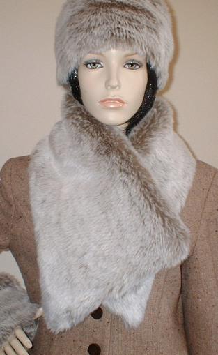 Koala Faux Fur Vintage Asymmetric Scarf