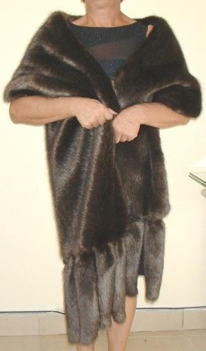 Mahogany Mink Faux Fur Tails Stole