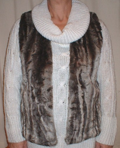 Vinatge Silver Astra faux Fur Gilet