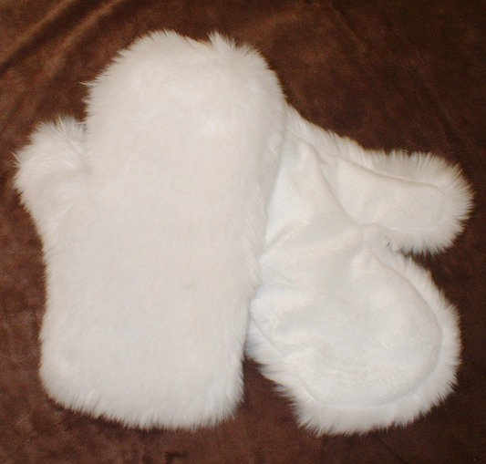 Snow White Faux Fur Mittens