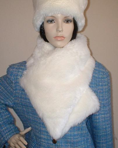 Marilyn Faux Fur Vintage Asymmetric Scarf