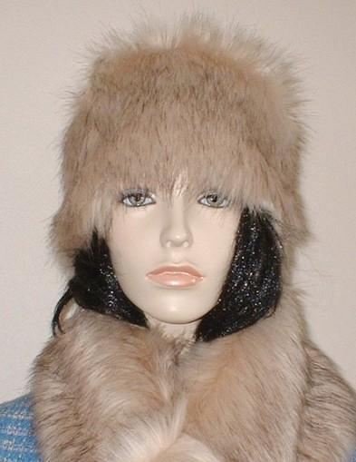 Fawn Musquash Faux Fur Hat