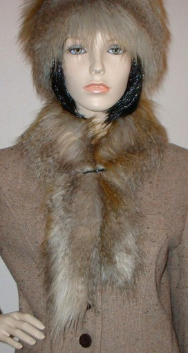 Coyote Faux Fur Slim Collar/Headband