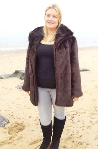 Mahogany Mink Faux Fur Jacket