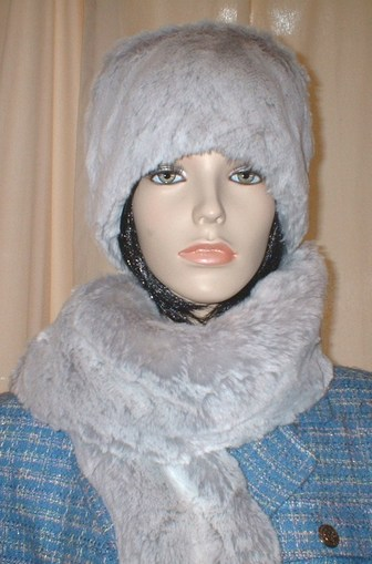 Tissavel Silver Sable Faux Fur Hat
