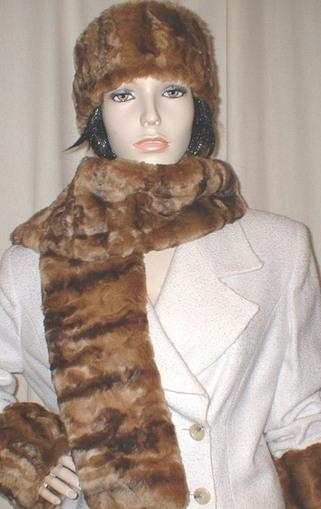 Vintage Gold Astra Faux Fur Scarf