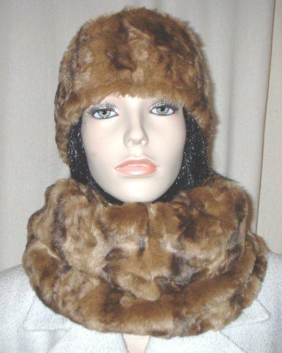 Vintage Gold Astra Faux Fur Cowl