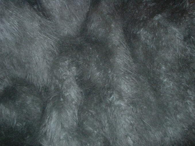 Mongolian Grey Faux Fur Per Meter