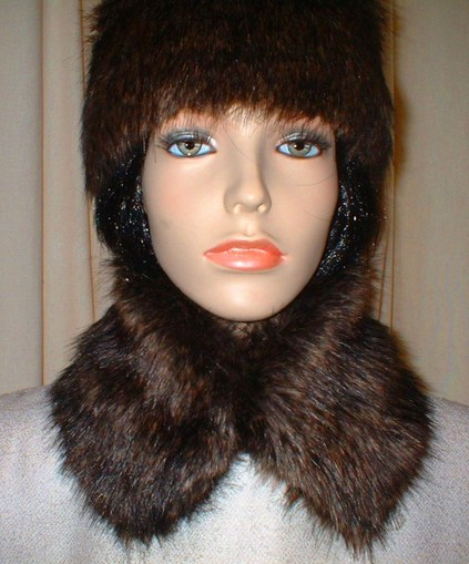 Brown Bear Faux Fur Collar