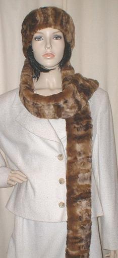 Vintage Gold Astra Faux Fur Super Long Scarf
