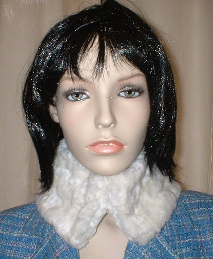 Ivory Astra Faux Fur Collar