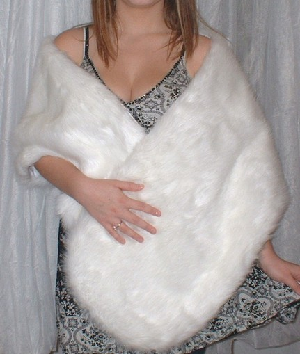 Snow White Faux Fur Stole