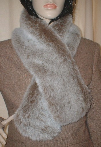 Koala Faux Fur Pull Through Scarf