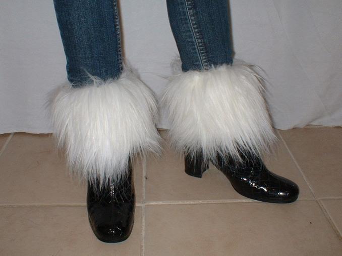 Polar Bear Faux Fur Boot Toppers