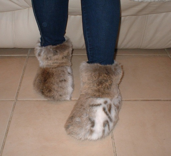 Lynx Faux Fur  Booties