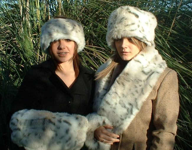 Snow Lynx Faux Fur Muff