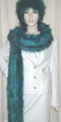 Jade Faux Fur Super Long Scarf