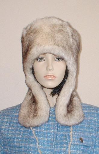 Polar Fox Faux Fur Trapper Hat