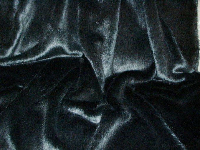 Charcoal Mink Faux Fur per meter