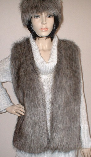 Timber Wolf Faux Fur Gilet